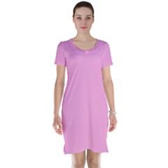 Pastel Color   Pale Cerise Short Sleeve Nightdress by tarastyle