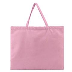 Pastel Color   Pale Crimson Zipper Large Tote Bag by tarastyle