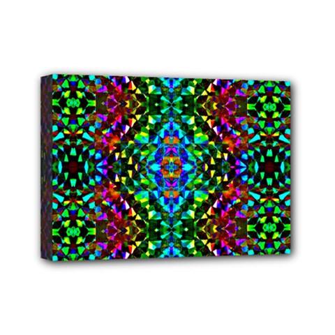 Glittering Kaleidoscope Mosaic Pattern Mini Canvas 7  X 5  by Costasonlineshop