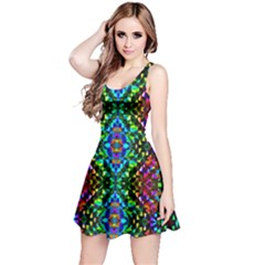 Glittering Kaleidoscope Mosaic Pattern Reversible Sleeveless Dress by Costasonlineshop