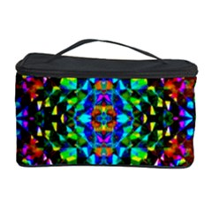 Glittering Kaleidoscope Mosaic Pattern Cosmetic Storage Case by Costasonlineshop