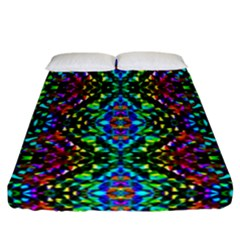 Glittering Kaleidoscope Mosaic Pattern Fitted Sheet (california King Size) by Costasonlineshop
