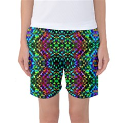 Glittering Kaleidoscope Mosaic Pattern Women s Basketball Shorts