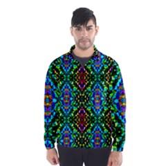 Glittering Kaleidoscope Mosaic Pattern Wind Breaker (men) by Costasonlineshop
