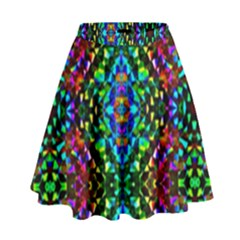 Glittering Kaleidoscope Mosaic Pattern High Waist Skirt by Costasonlineshop