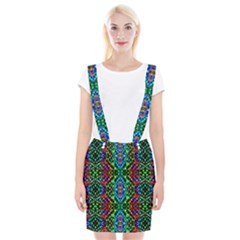 Glittering Kaleidoscope Mosaic Pattern Braces Suspender Skirt by Costasonlineshop