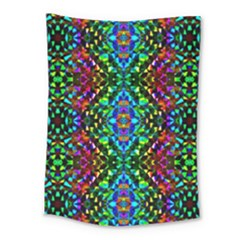 Glittering Kaleidoscope Mosaic Pattern Medium Tapestry by Costasonlineshop