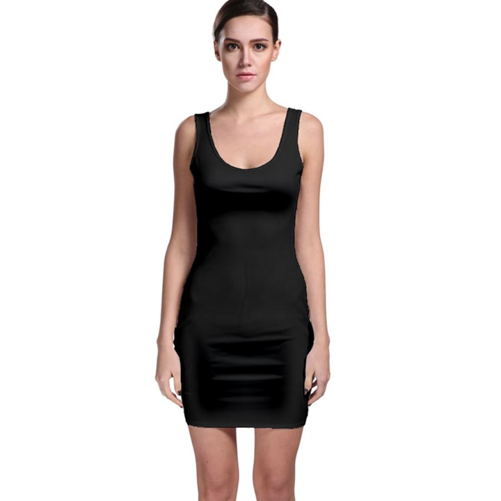 Black Gothic Sleeveless Bodycon Dress