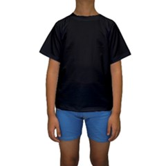 Black Gothic Kids  Short Sleeve Swimwear by Costasonlineshop