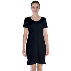 Black Gothic Short Sleeve Nightdress by Costasonlineshop
