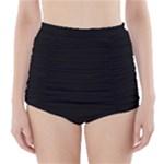 Black Gothic High-Waisted Bikini Bottoms