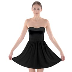 Black Gothic Strapless Bra Top Dress by Costasonlineshop