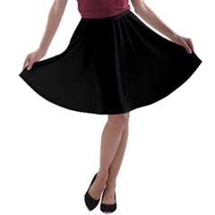 Black Gothic A Line Skater Skirt by Costasonlineshop