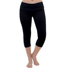 Black Gothic Capri Yoga Leggings by Costasonlineshop