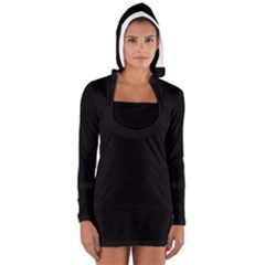 Black Gothic Women s Long Sleeve Hooded T-shirt by Costasonlineshop