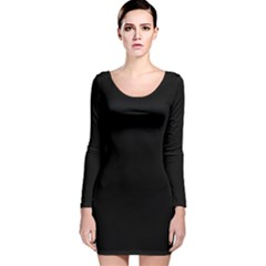 Black Gothic Long Sleeve Velvet Bodycon Dress by Costasonlineshop