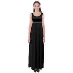 Black Gothic Empire Waist Maxi Dress by Costasonlineshop