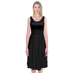 Black Gothic Midi Sleeveless Dress by Costasonlineshop