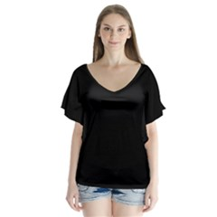 Black Gothic Flutter Sleeve Top by Costasonlineshop