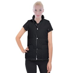 Black Gothic Women s Button Up Puffer Vest by Costasonlineshop