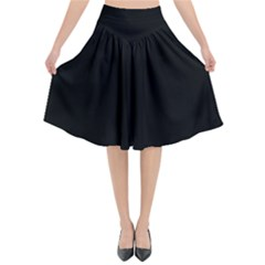 Black Gothic Flared Midi Skirt by Costasonlineshop