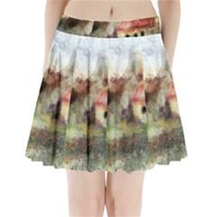 Old Spanish Village Pleated Mini Skirt by theunrulyartist