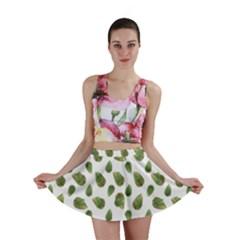 Leaves Motif Nature Pattern Mini Skirt by dflcprintsclothing