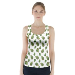 Leaves Motif Nature Pattern Racer Back Sports Top by dflcprintsclothing