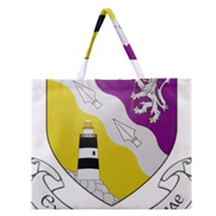 County Wexford Coat Of Arms  Zipper Large Tote Bag by abbeyz71