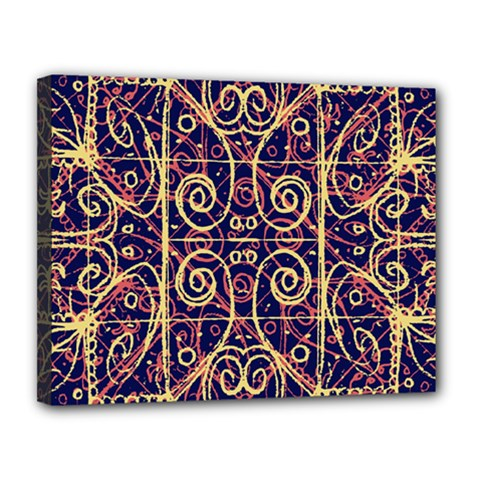Tribal Ornate Pattern Canvas 14  X 11  by dflcprints