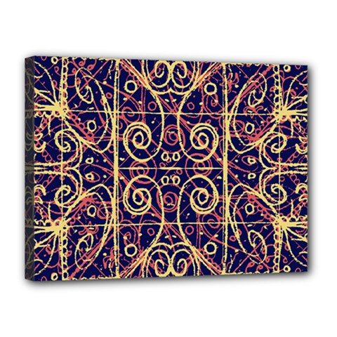 Tribal Ornate Pattern Canvas 16  X 12  by dflcprints