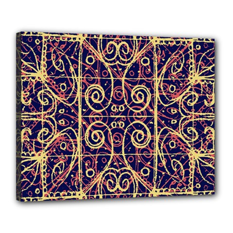 Tribal Ornate Pattern Canvas 20  X 16  by dflcprints
