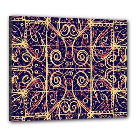 Tribal Ornate Pattern Canvas 24  X 20  by dflcprints