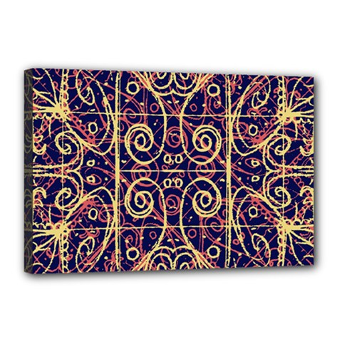 Tribal Ornate Pattern Canvas 18  X 12  by dflcprints