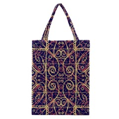 Tribal Ornate Pattern Classic Tote Bag by dflcprints