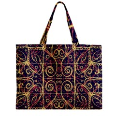 Tribal Ornate Pattern Medium Tote Bag by dflcprints