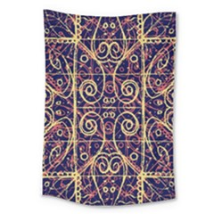 Tribal Ornate Pattern Large Tapestry by dflcprints