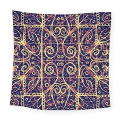 Tribal Ornate Pattern Square Tapestry (large) by dflcprints