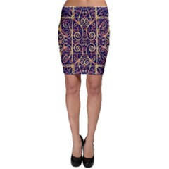 Tribal Ornate Pattern Bodycon Skirt by dflcprintsclothing