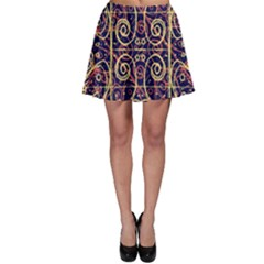 Tribal Ornate Pattern Skater Skirt by dflcprintsclothing