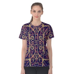 Tribal Ornate Pattern Women s Cotton Tee by dflcprintsclothing