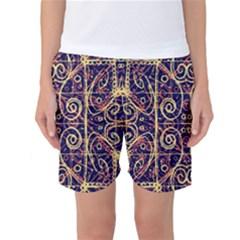 Tribal Ornate Pattern Women s Basketball Shorts