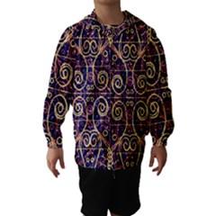 Tribal Ornate Pattern Hooded Wind Breaker (Kids)