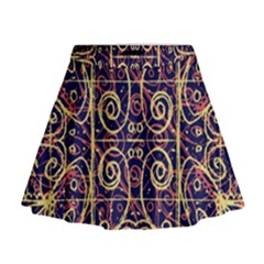 Tribal Ornate Pattern Mini Flare Skirt by dflcprintsclothing