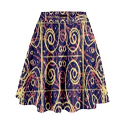 Tribal Ornate Pattern High Waist Skirt by dflcprintsclothing