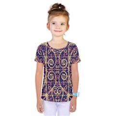 Tribal Ornate Pattern Kids  One Piece Tee