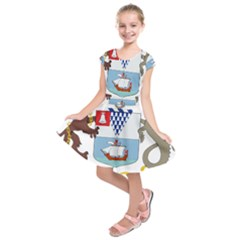 Coat Of Arms Of Belfast  Kids  Short Sleeve Dress