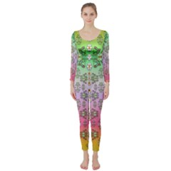 Summer Bloom In Festive Mood Long Sleeve Catsuit