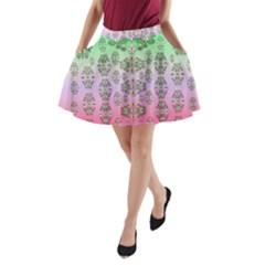 Summer Bloom In Festive Mood A Line Pocket Skirt by pepitasart