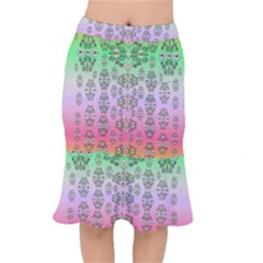 Summer Bloom In Festive Mood Mermaid Skirt